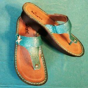 fc28a8a0f2f Women s Turquoise Flat Sandals on Poshmark
